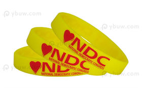 Yellow Printed Silicone Wristband-PW12ASO