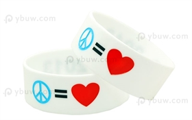 1inch Color-Filled Rubber Bracelets