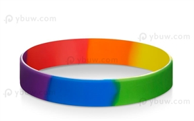 Rainbow Segment Blank Wristbands