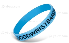 Light Blue Embossed Printed Silicone Wristband-EPW12ASO